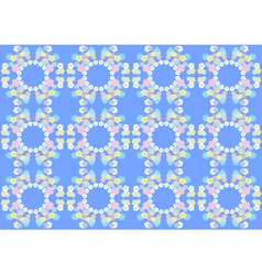 Gentle flowers on blue background vector