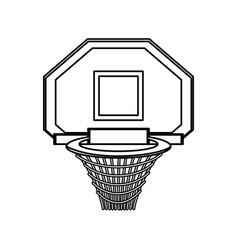 isolated basket ball vector image
