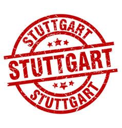 stuttgart red round grunge stamp vector image