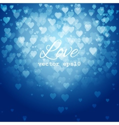 Festive blurred blue background with bokeh vector image