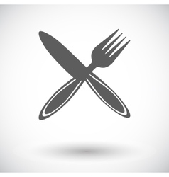 Cutlery single flat icon vector