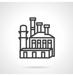Metal industry plant icon vector