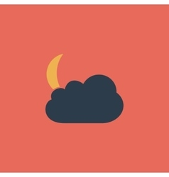 Moon and clouds 10eps vector