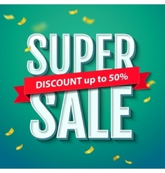 Super sale inscription on the blue background vector
