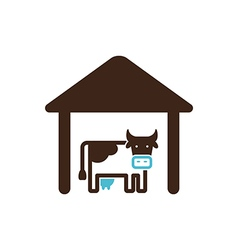 Cowshed icon farm vector