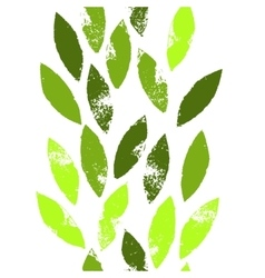 Colorful green leaves on white grunge seamless vector