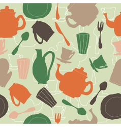 Tea set seamless vector