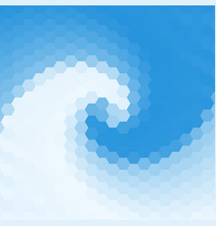 abstract swirl background of hexagons vector image vector image