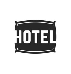 Black hotel logo with pillow vector