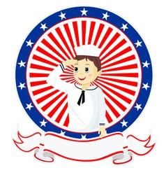 Boy seaman vector image