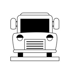 Bus frontview icon image vector