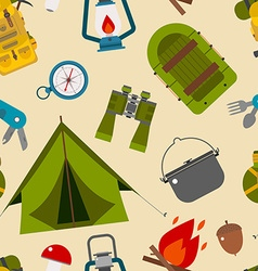 Camping seamless pattern vector