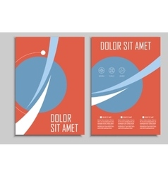 Circle geometric design brochures template vector image
