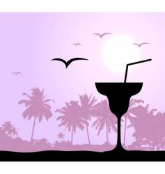 cocktail party on the beach vector image vector image