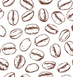 Coffee bean pattern including seamless vector image vector image