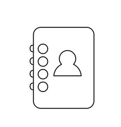 contacts agend isolated icon vector image vector image