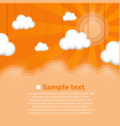 Decoration clouds background vector