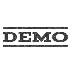 Demo watermark stamp vector