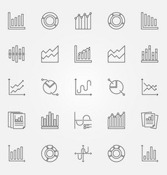 diagram and graph icons set vector image