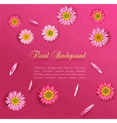 flowers and petals vector image vector image