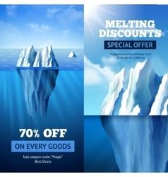 Iceberg sale banners vector