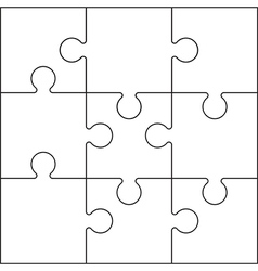 Jigsaw set black vector