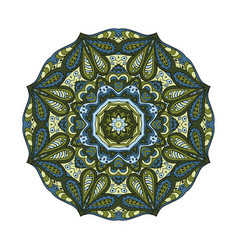 Mandala flower doodle drawing round ornament vector