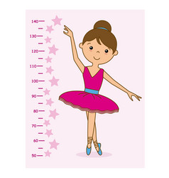 meter wall girl dancer vector image