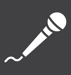 microphone glyph icon music and instrument vector image vector image