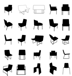 modern furniture silhouette vector image