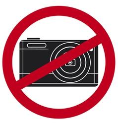 no camera symbol vector image