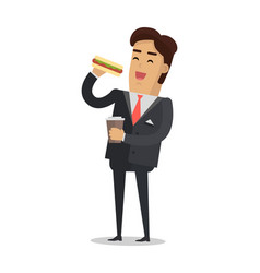 office lunch break flat style vector image vector image