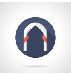 Ogee arch round flat color icon vector