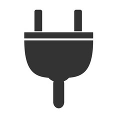 plug icon on white background plug sign flat vector image vector image