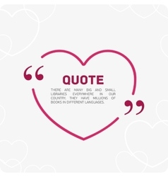 Quote in the form of heart vector