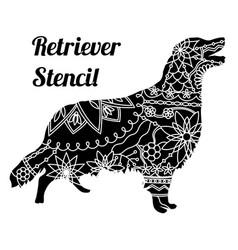 Retriever dog stencil vector