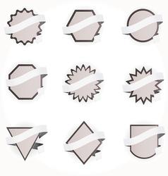 ribbon labels vector image vector image