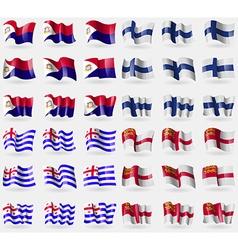 Saint martin finland ajaria sark set of 36 flags vector