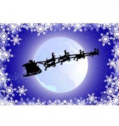 Santa's sled vector image vector image