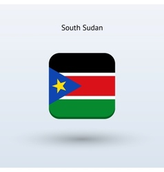South sudan flag icon vector