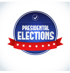 usa presidential election lable vector image vector image