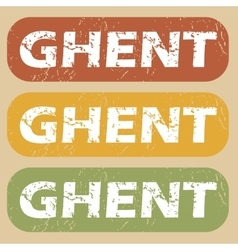 Vintage ghent stamp set vector