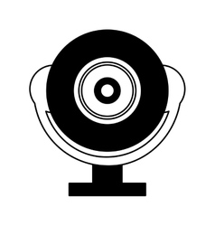 Web cam gadget isolated icon vector