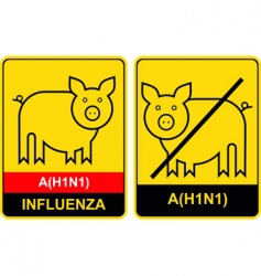 Swine flu warning vector