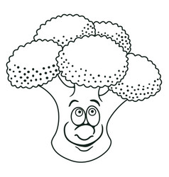 Fresh broccoli cartoon vector