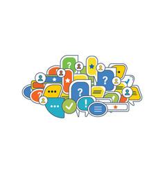 Communication technologies reviews comments vector