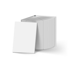 stack of gray books on white mockup template vector image