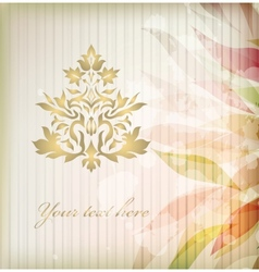 Vintage floral damask ornament vector