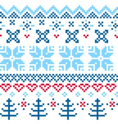 Beautiful seamless norway pattern vector