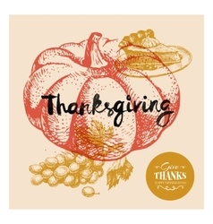 Thanksgiving day background typographic poster vector